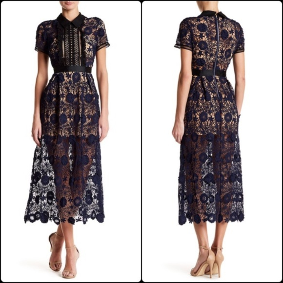 eafb40d8a6 Few Moda Dresses | Lace Yoke Midi Dress | Poshmark